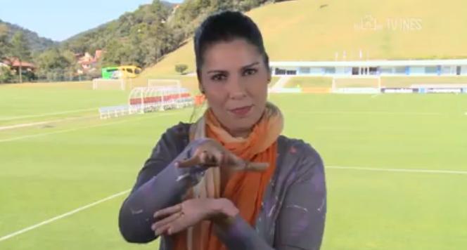 Clarissa, periodista sorda en Brasil 2014