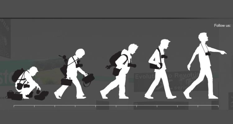 Imagen que muestra la evolución de la profesión de los fotógrafos